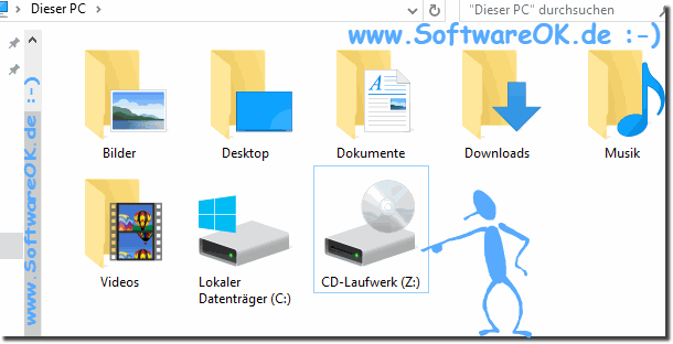 Windows 10 CD/DVD Laufwerk im MS-Explorer!