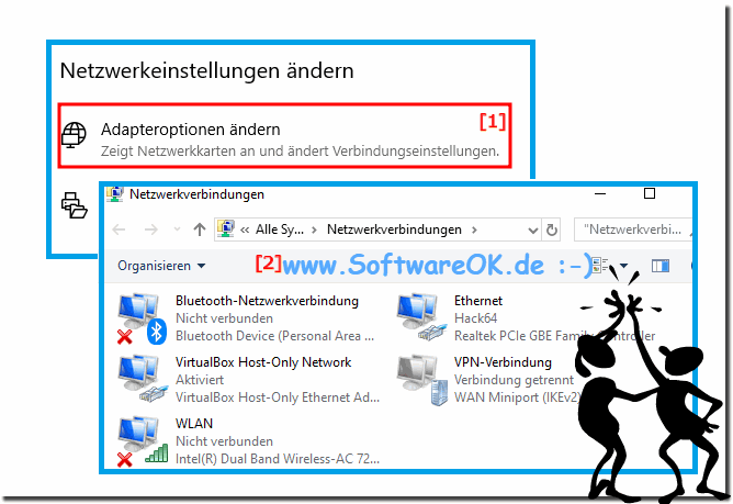 Windows-10: Netz-Adaptereinstellungen!