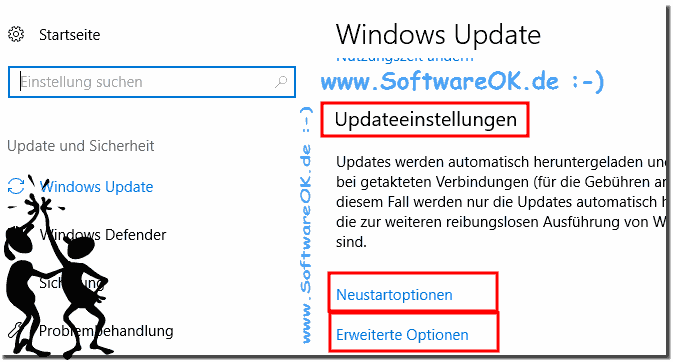 Update Einstellungen in Windows 10!