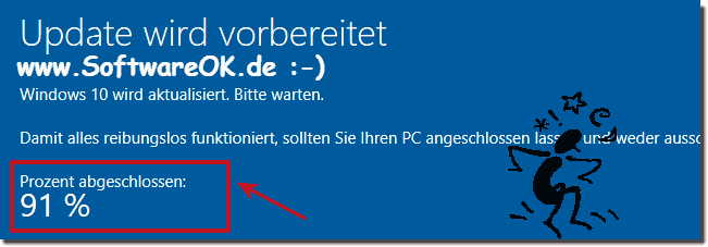 Windows-10 Update hängt bei 91%!