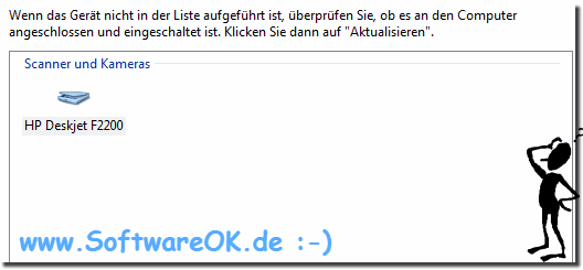 Windows Scanner und Kameras in der Windows Bilderfassung!