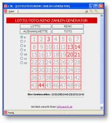 Keno Zahlengenerator