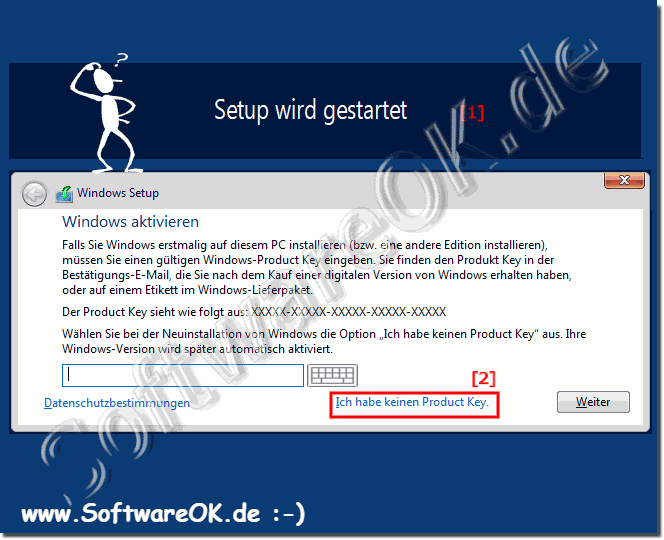 Installation MS Windows Server 2019, 2016 ohne Product Key!