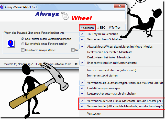 Drag und Drop Problem mit Always Mouse Wheel!
