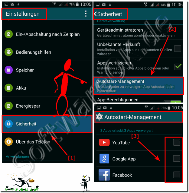 Den Autostart-Manager am Android Handy einrichten!