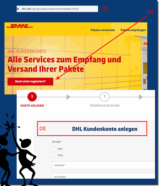 DHL Packstation registrieren!