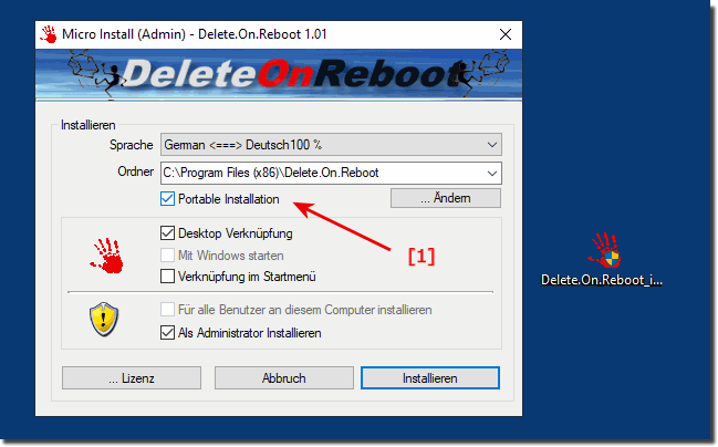 Delete On Reboot Portable!
