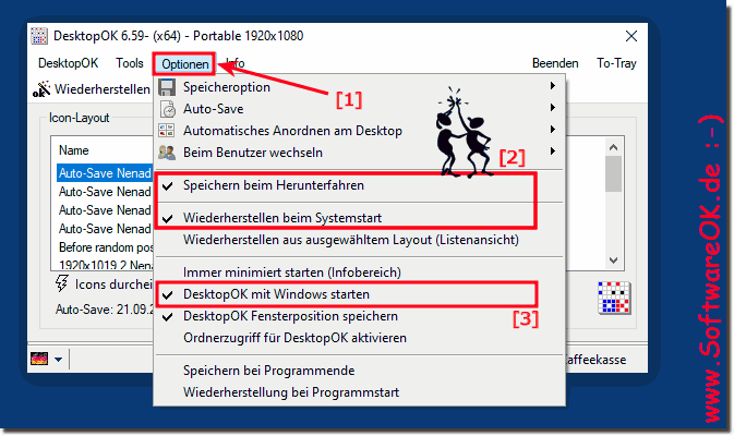 Desktop Symbole beim Windows Start wiederherstellen!