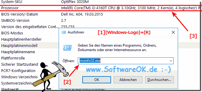 CPU Abfrage am Windows-PC!