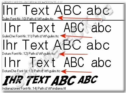 Wie kann ich ttc schriftarten in windows anschauen die nicht im