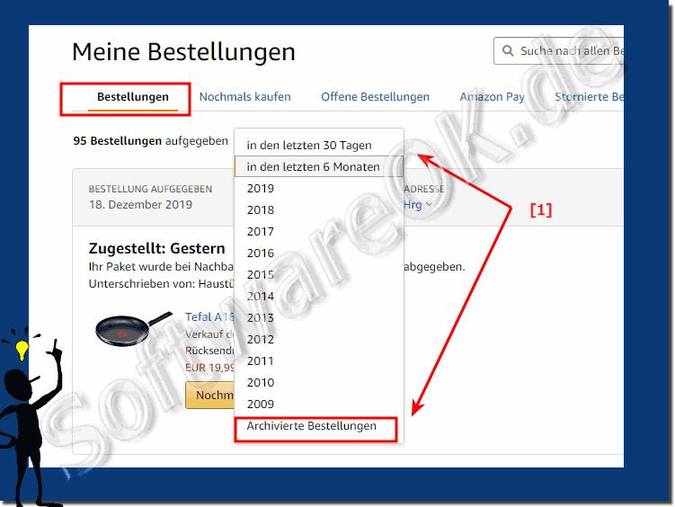 Amazon Archivierte Bestellungen