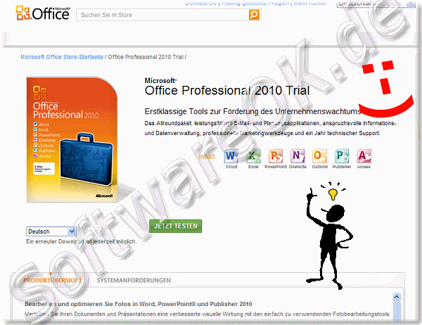 Microsoft Office Professional 2010 Trial Testversion testen