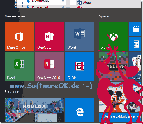 Office-Im-Start Menü-von-Windows-10!