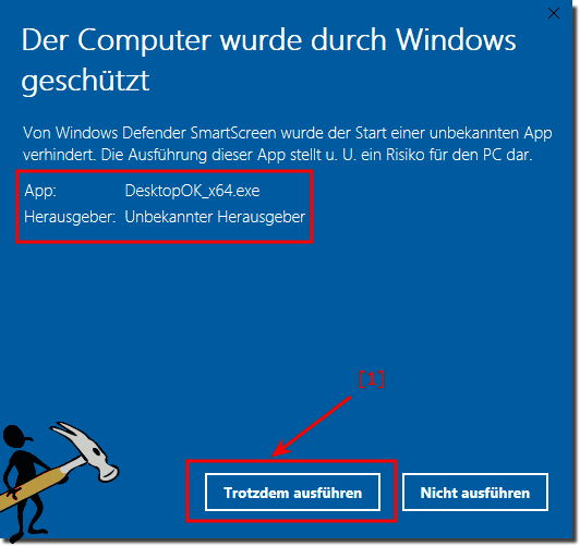 Windows 10 Software Ausführen!