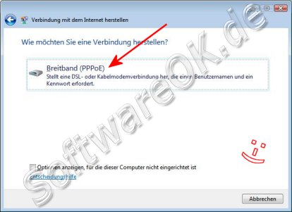 T-Online TDSL Windows Vista Breitband PPPoE
