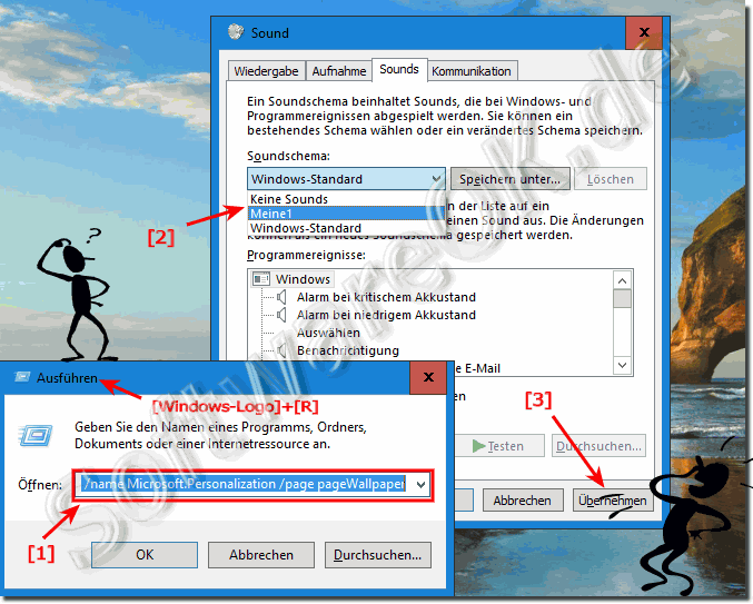 Ändern der Computer-Sounds in Windows-10!