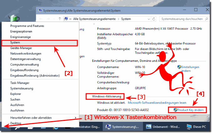Ändern des Product Key in Windows 10 über System!