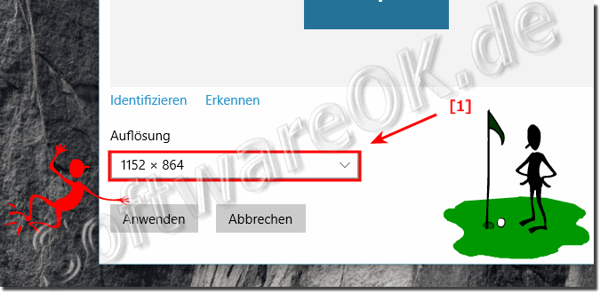 Bildschirmauflösung in Windows 10!