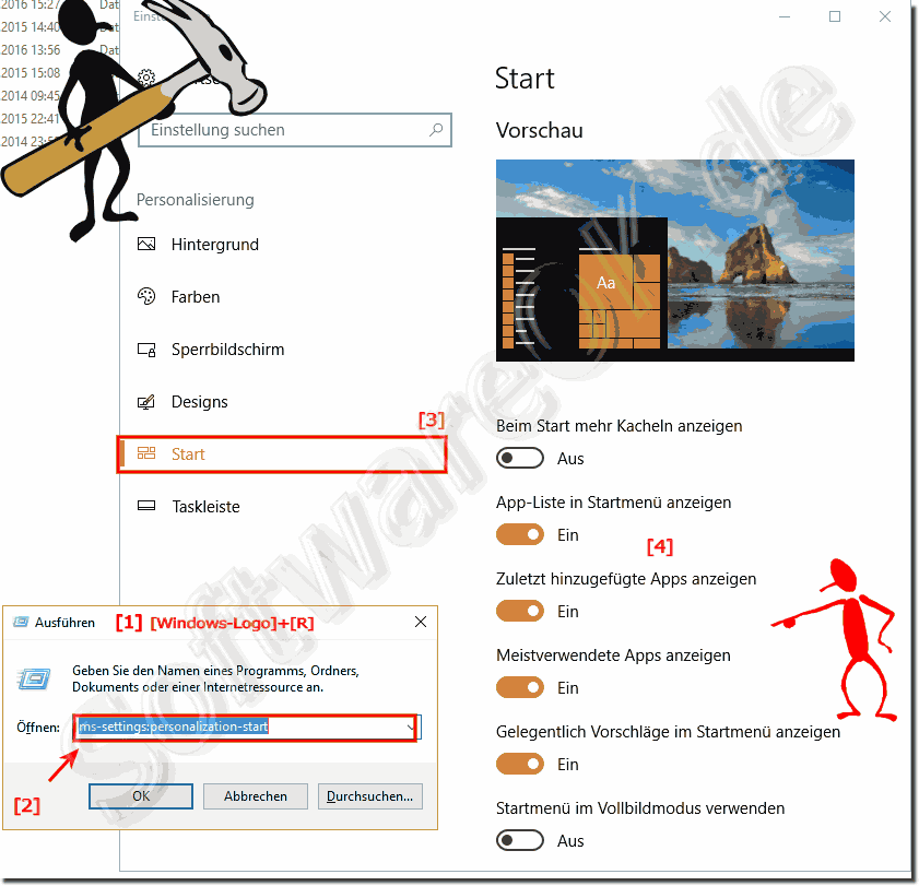 Das Windows 10 Startmenü!