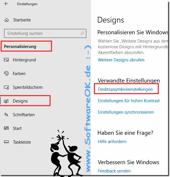 Desktop-Symbole Personalisieren in Windows 10!