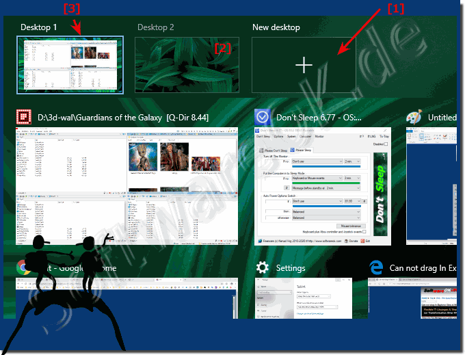 Mehrere Virtuelle Desktops in Windows 10!