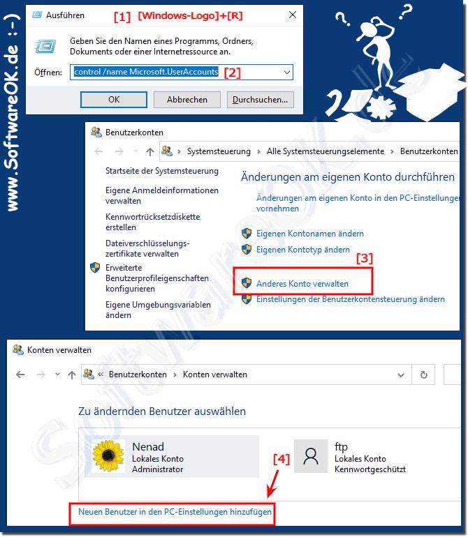 Windows 10 Benutzerkonto Wechseln