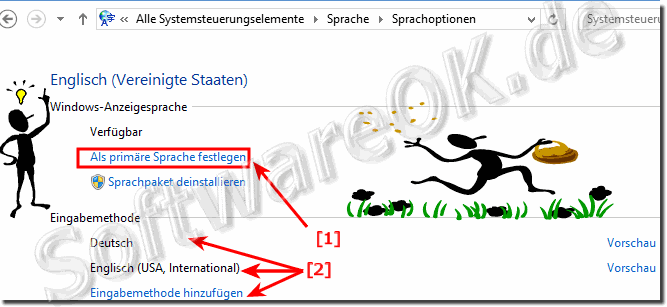 Primäre Sprache in Windows 10 festlegen!