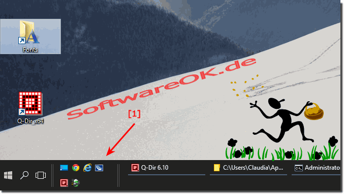 QuickLaunch - Schnellstartleiste in der Taskleiste am Windows-10 Desktop!