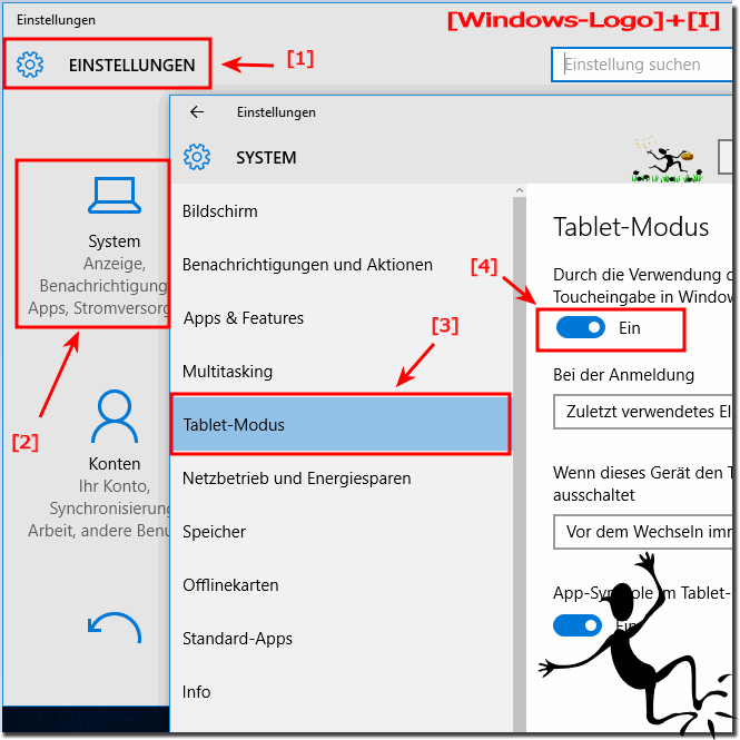 Start-Bildschirm in Windows-10 Tablet-Modus!