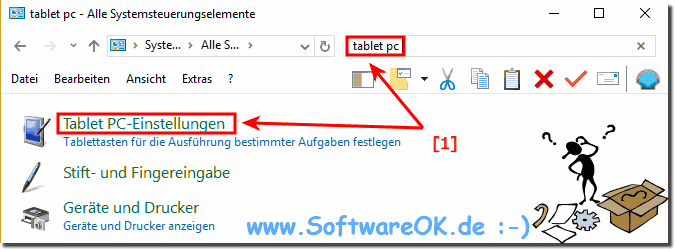 Tablet PC Einstellungen in Windows-10!