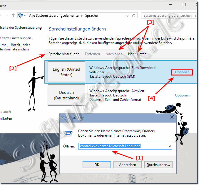 Windows-10 Sprache �ndern, hinzuf�gen, entfernen, festlegen!