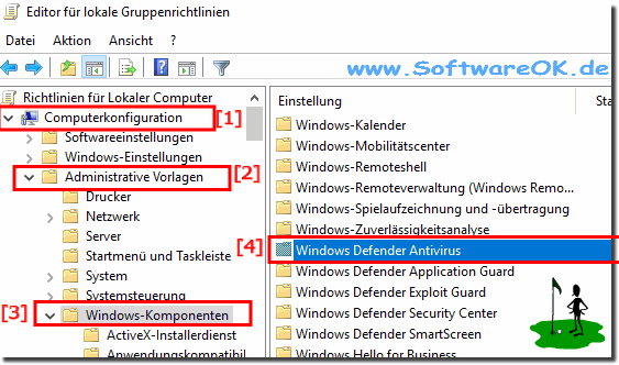 Windows Komponenten - Defender!