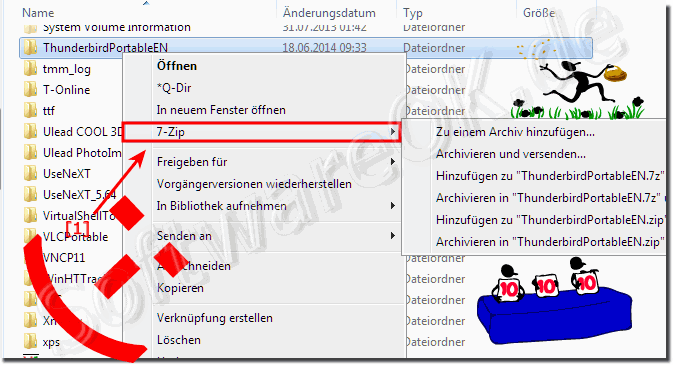 7-Zip Kontextmen� unter Windows (x64/x32)!