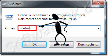 Ausf�hren Systemsteuerung in Windows-7!