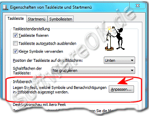 Taskleiste Eigenschaften in Windows-7