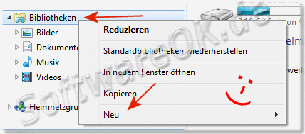 Windows-7 Bibliotheken im Explorer hinzufuegen