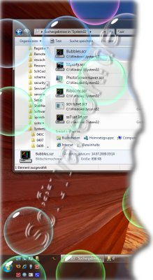 Bubbles Bildschirmschoner in Windows-7