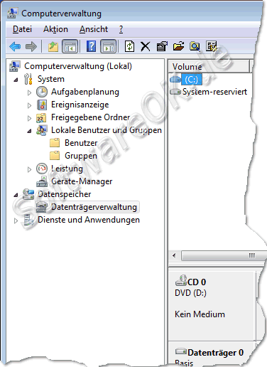 Computerverwaltung Windows7