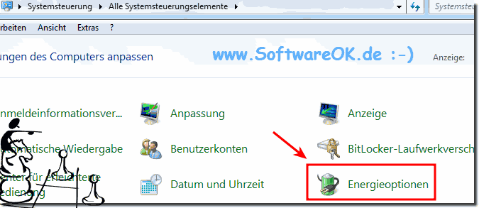 Energie-Optionen  im Windows-7!