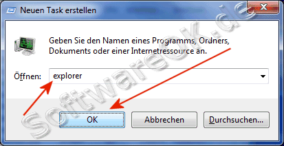 Explorer neu starten in Windows-7