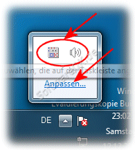 Infobereich der Windows-7 Taskleiste