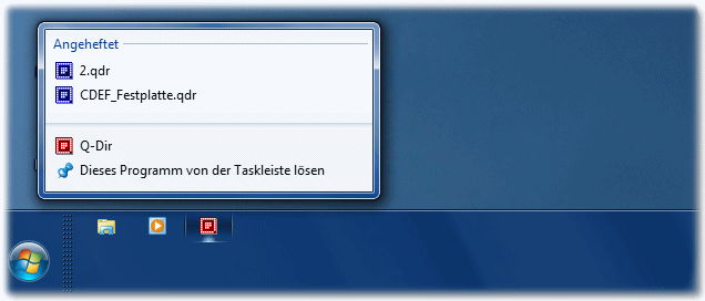 Pinnen an der Taskleiste in Windows-7