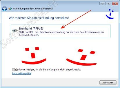 TDSL Windows-7 Breitband PPPoE