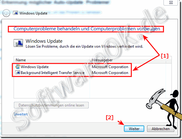 Windows-7 Auto Update Probleme behandeln!