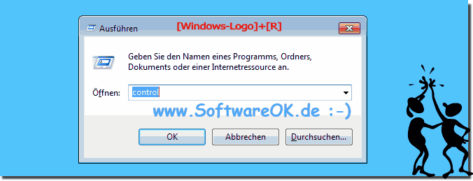 Windows 7 Ausf�hren Dialogfenster!