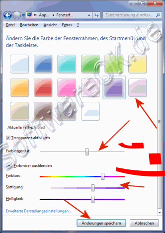 Windows 7 Farbschema