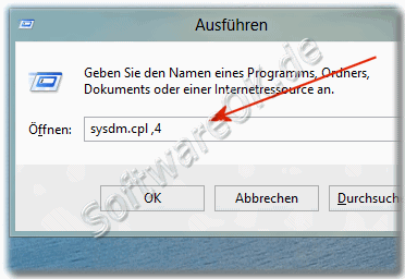 Befehl zum �ffnen vom Computerschutz in Windows-8