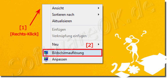 Bildschirmaufl�sung unter Windows-8 �ndern