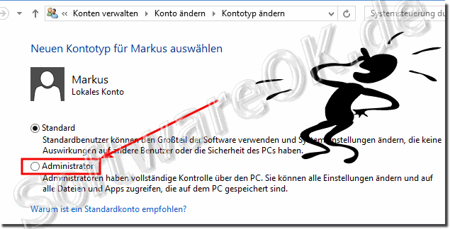 Kontotyp Windows 8