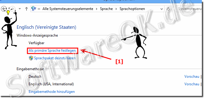 Primäre Sprache in Windows 8.1 festlegen